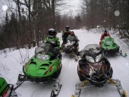 snowmobiling in Grand Marais, MI